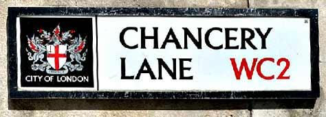 Chancery Lane street sign