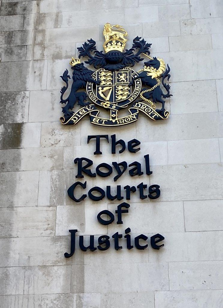 Royal Courts of Justice emblem